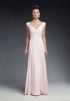 A-Line V-Neck Chiffon Mother Of the Bride Dress (CBM0004)