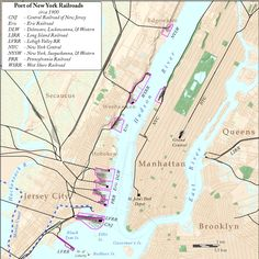 Ferry/Railroad Terminals and the Morris Canal | North River, New York Sailing