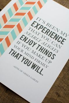 Anne of Green Gables Quote Print by SnailMailDesignShop on Etsy