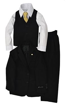 Johnnie Lene Dress Up Boys Designer Suit Set #JL5040 (7, Black) Johnnie Lene http://www.amazon.com/dp/B00S5LJC8M/ref=cm_sw_r_pi_dp_MZe4ub0D0X50X