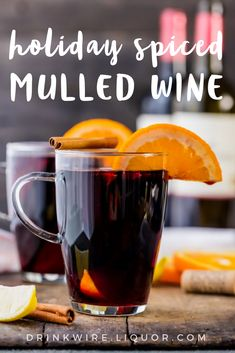 Get the Christmas music playing because we are ready for the holiday cocktails! The Holiday Spiced Mulled Wine is the perfect punch to make when your expecting guests for the winter season!