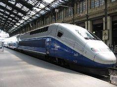 TGV - ( High speed train-180 mph)   Paris to Avignon,Provence!  What a fantastic trip!  We went 1st class ! Nice! :)