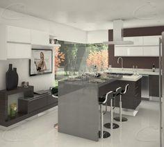 La diversificación de los espacios interiores crea dos espacios en los cuales la convivencia es el estandarte. El diseño de la cocina B-A; Combina las texturas de las maderas con la sobriedad de los sólidos. Aunado a una paleta de colores neutros que hacen de este un lugar sobrio y elegante.