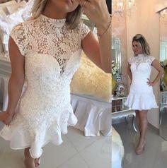 Short Beaded Homecoming Dress ,Short Wedding Dress, Prom Dresses Cocktail Dresses Graduation Dresses PDS0302