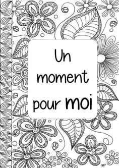 Un moment pour moi: premier aperçu Filofax, Bujo, Binder Covers, Adult Coloring Pages, Back To School, Playing Cards, Doodles, Positivity, Journal