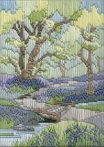 Spring Walk Long Stitch Kit by Derwentwater Designs from the range 'Seasons in Long Stitch' designed by Rose Swalwell.