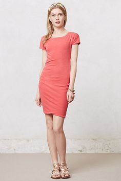 Ruched T-Shirt Dress #anthropologie