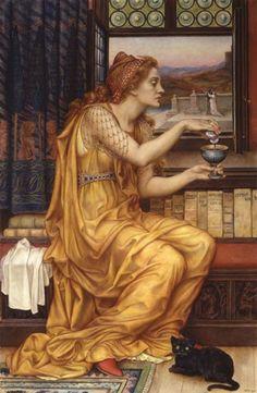 """Evelyn de Morgan, """"The Love Potion"""", 1903."""