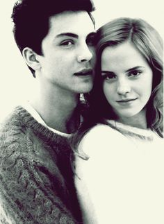 Logan Lerman and Emma Watson. This just made my life complete
