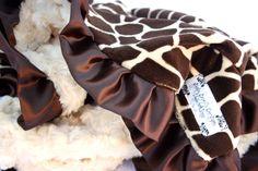 Giraffe Minky Baby Blanket- Baby Boo's via Etsy