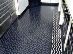 stencilling a floor