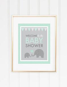 Elephant Baby Shower INSTANT DOWNLOAD Elephant por MKKMDesigns