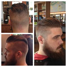 Pompadour I did (transitioning from side part to pomp)