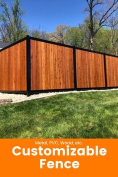 Whether it is metal, PVC or wood, our fence is completely customizable. Make your fence look the way you want while being durable and sturdy. Privacy Fences, Fencing, Fence Wall Design, Horizontal Fence, Fence Ideas, Backyard Ideas, Outdoor Furniture, Outdoor Decor, Biotin Hair