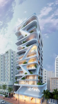 Zaha Building on Behance architecture Building X Architecture Design, Cultural Architecture, Facade Design, Concept Architecture, Futuristic Architecture, Residential Architecture, Amazing Architecture, Contemporary Architecture, Architecture Definition