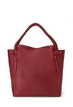 Zippered Faux Leather Tote   FOREVER21 - 1000084063 - $27.80
