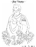 saint valentine coloring page catholic playground