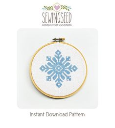 Snowflake Cross Stitch Pattern Instant Download by Sewingseed