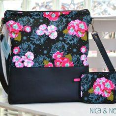 Conjunto bandolera Pretty + monedero elaborado en nuestro taller y disponible en www.nicaynora.com