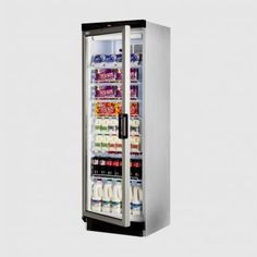 Tefcold 372 Ltr Single Glass Door Upright Fridge: FS1380 L/H