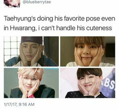 OMO I died in hwarang << so did taehyung. Sorry too soon