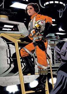 Star Wars: Rebel Pilot Leia by Adam Hughes