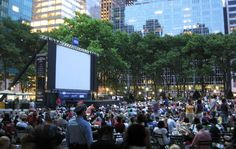 Go to a movie at Bryant Park.