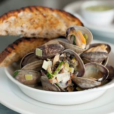Steamed Clams with Sherry and Chickpeas at Walrus and the Carpenter