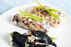 Rice paper and nori rolls