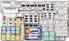 Year Round Domino Math Centers for Kindergarten and First grade.4 centers and 25 pages of printables.