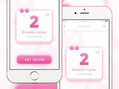 2x Dribbble Invites UI by David TJ Powell