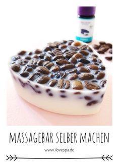 DIY Kaffee Tonka Massagebar selber machen #kosmetik #selbermachen #wellness #diygeschenke #diygeschenkideen Massage Öl, Vegan Beauty, Natural Cosmetics, Spas, Diy Beauty, Homemade, Gifts, Zero Waste, Cereal
