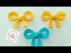 Crochet Hair Accessories, Crochet Hair Styles, Baby Knitting Patterns, Crochet Patterns, Crochet Flowers, Crochet Earrings, Projects To Try, Bows, Crafty