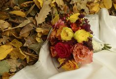 Autumn wedding bouquet.  by Purple Effect Events