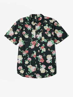 SUPREME PAINTED FLORAL RAYON SHIRT PURPLE S M L XL FW17 2017 BUTTON UP LS GREEN