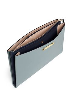 CHLOÉ - Classic leather clutch | Blue Day Clutches | Womenswear | Lane Crawford