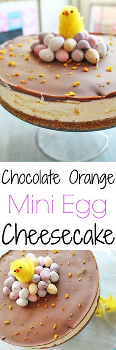 My Chocolate Orange Mini Egg cheesecake is a fun Easter dessert that's easy to make, can be made ahead, and even has a fun hidden mini egg surprise! Creme Egg Cheesecake, Easter Cheesecake, Cheesecake Recipes, Dessert Recipes, Digestive Biscuits, Mini Eggs, Easy Meals For Kids, Easter Treats, Bolo De Chocolate