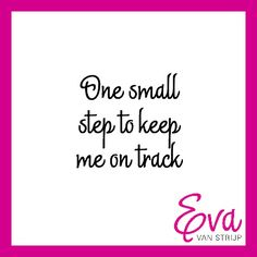 One small step to keep me on track - small business tips.