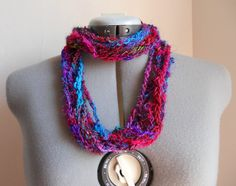 Recycled sari silk infinity scarf, $28