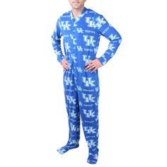 Mens Kentucky Wildcats Blue Ramble One-Piece ''Mansie'' Footie Pajama Suit