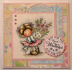 Angolo Stamping Dena: Carta Presente Con Un tutorial! Parchment Cards, Mo Manning, Dena, Butterfly Cards, Pretty Cards, Card Maker, Lily Of The Valley, Digi Stamps, Copic Markers