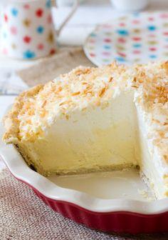 Coconut Cream Pie Recipe | ASpicyPerspective.com #pie #recipe #coconut uses coconut cream,instant vanilla pudding-cream cheese-heavy cream-coconut