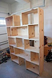 Knock-off Crate and Barrel Bookcase - Done! | Simply Weekends #Home-Decor