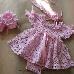 Crochet Baby Dress Crochet dress baby girl...