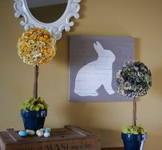 Make #Sizzix paper flower topiaries for #Spring @savedbyloves