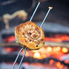 Campfire Toasted Cinnamon Rolls - In my last post, I mentioned that our family recently had our inaugural camping trip of the year. We went with some friends and had so much fun camping in the Paci...