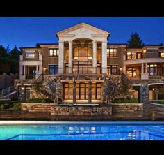 Luxury Mansion with a Parthenon Style Roof! #Pillars