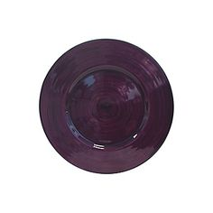Plum Circle Glass Charger / Tray 13""