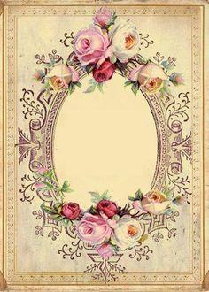 Vintage Roses on Pinterest | Collage Sheet, Vintage Images and ...