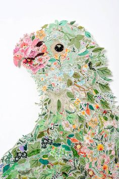 Textile Design and Designer`s Platform - Louise Saxton is a Melbourne based artist who uses found textiles to build these works. Art Design, Textile Design, Bird Quilt, The Design Files, Textile Artists, Art Plastique, Embroidery Art, Bird Art, Medium Art